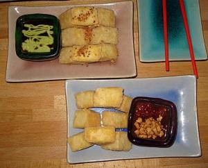 Sens Wasabi Tofu and Sesame Tofu