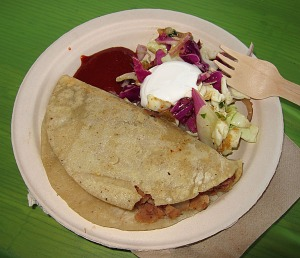 Green's potato and beans taco